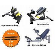 Kit Equipamentos (1 Sissy , 1 Pélvica e 1 Banco Lombar)