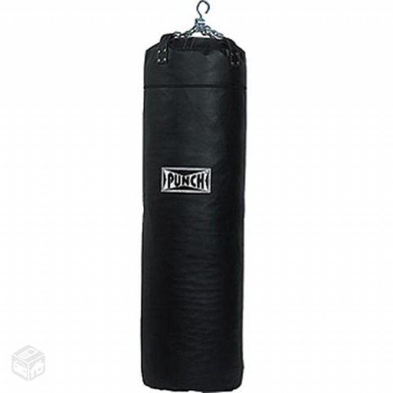 Saco de pancada couro sintético 120cm Preto (70kg)