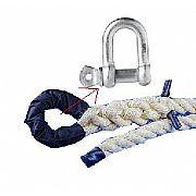 Corda p/ Escalar de Sisal 36mm x 4m c/ Manilha